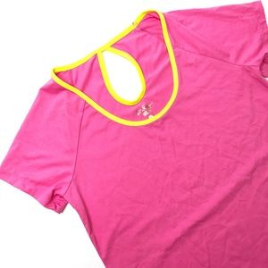LILLY PULITZER Luxletic Pink Workout T Shirt Sz S